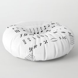 Musical Notation Floor Pillow