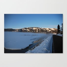 Winter morning at Yellowstone National Park Canvas Print
