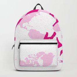 Vector watercolor pink ribbon - breast cancer awareness symbol Backpack