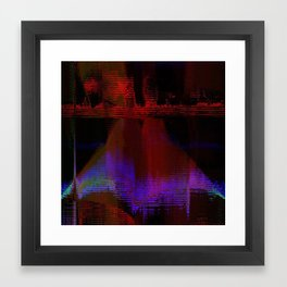 15-52-49 (Leggy Glitch) Framed Art Print