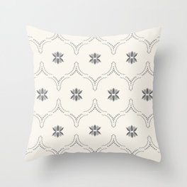 WILDFLOWER JASMIN GREY Throw Pillow