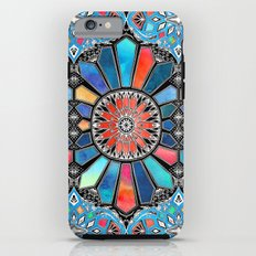 Iridescent Watercolor Brights on Black iPhone 6s Tough Case