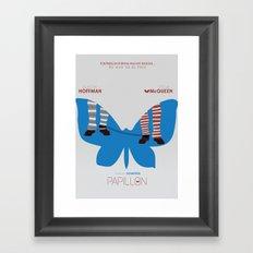 Papillon - Alternative Movie Poster Framed Art Print