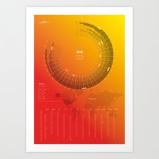 Bureau Oberhaeuser Calendar 2016 orange, english Art Print
