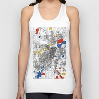 kansas city Tank Tops featuring Kansas City  by Mondrian Maps