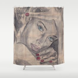 "Ink Painting ""Nelle"" Shower Curtain"