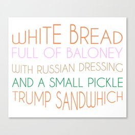 Trump Sandwhich Canvas Print