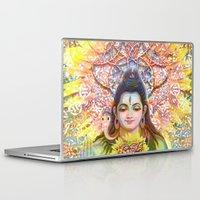 shiva Laptop & iPad Skins featuring Sunflower Shiva by BradButler