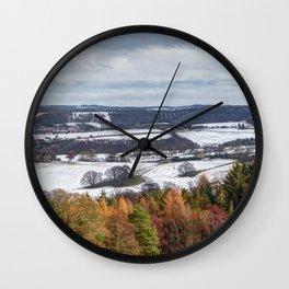 Muggleswick snow landscape Wall Clock