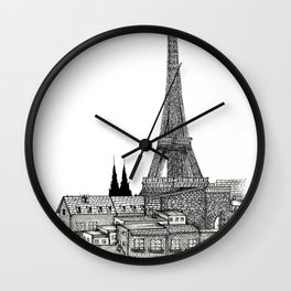 City view of paris Wall Clock