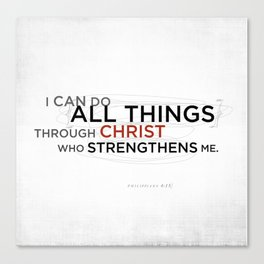 Philippians 4:13 II Canvas Print