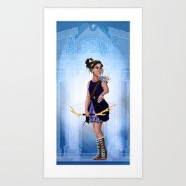 Greek Goddesses - Artemis Art Print