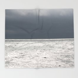 Ominous Ocean Throw Blanket