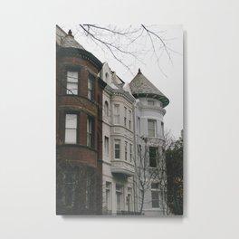 Georgetown Townhouses Metal Print