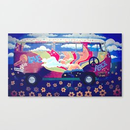 Hippie Camper Van Canvas Print