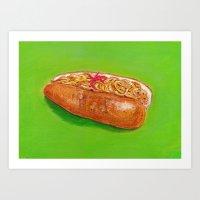 Yakisoba Dog Art Print