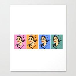 Nurse Art Vintag Canvas Print