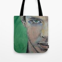 street fighter Tote Bags featuring Fighter by Michael Creese