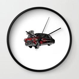 Fondo Coche Rojo Wall Clock