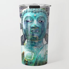 "Asian Buddha metal statue photo | ""Peace"" Travel Mug"