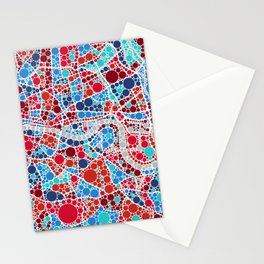 Contemporary London Map | Souvenir | Home Gift | Office / Commercial  Art Stationery Cards