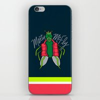 marty mcfly iPhone & iPod Skins featuring Marty McFly by Chelsea Herrick