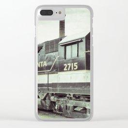 Savannah Railroad Clear iPhone Case
