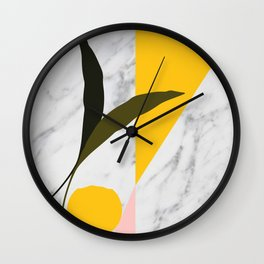 Tropical Marble Wall Clock