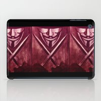 vendetta iPad Cases featuring RED for VENDETTA by The Traveling Catburys