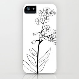 Forget Me Not Minimalist iPhone Case