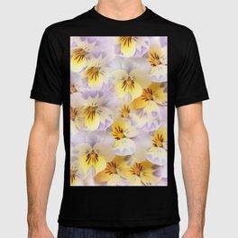 Pastel Vintage Pansies 2 T-shirt
