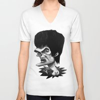 bruce springsteen V-neck T-shirts featuring Bruce by Hanif