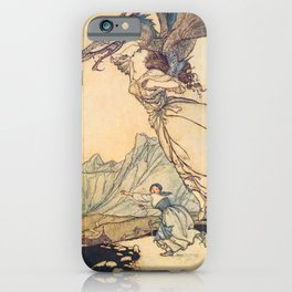 """The Dragon Caught the Queen"" by Arthur Rackham iPhone Case"