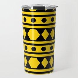 Tribal Yellow Pattern Travel Mug