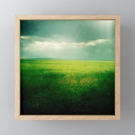 Green Fields Framed Mini Art Print