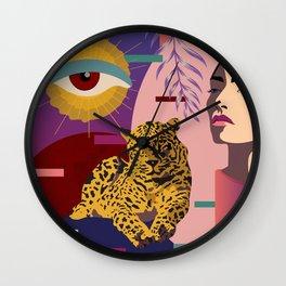 The Big Eye Leopard abstract Wall Clock