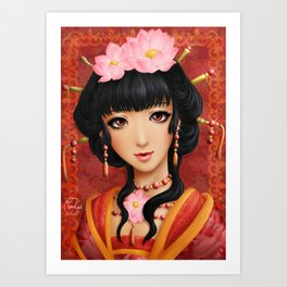 Chinese thought - Pensée chinoise Art Print
