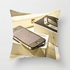 iPhone 4 Throw Pillow