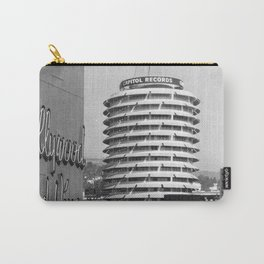 Capital Records Building, Los Angeles, California black and white photograph / black and white photography Carry-All Pouch