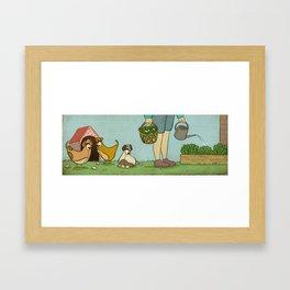 Micro Chicken Farming Framed Art Print