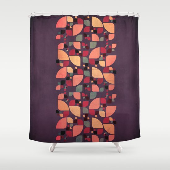 Vintage Butterflies Pattern Shower Curtain