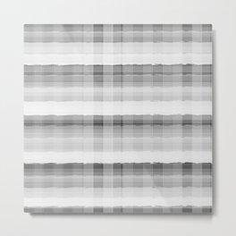 Gray and White Plaid Metal Print