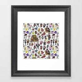 Cute Gravity Falls Doodle Framed Art Print