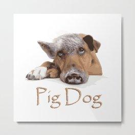 pig dog animal Metal Print