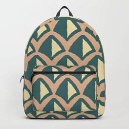 Classic Hollywood Regency Pyramid Pattern 239 Beige Yellow and Green Backpack