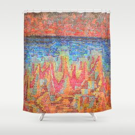 Paul Klee Cliffs by the Sea Shower Curtain