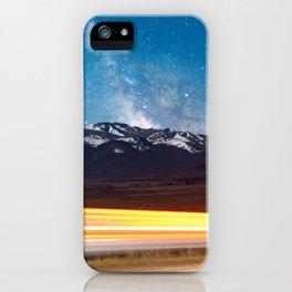 Milky Way over the Colorado Rocky Mountains iPhone Case
