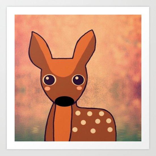 Little Deer-96 Art Print