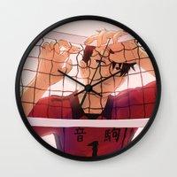 haikyuu Wall Clocks featuring Kuroo~♥ by sushishishi