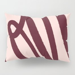 Love Letters, Blush and Vintage Chocolate Palette Pillow Sham